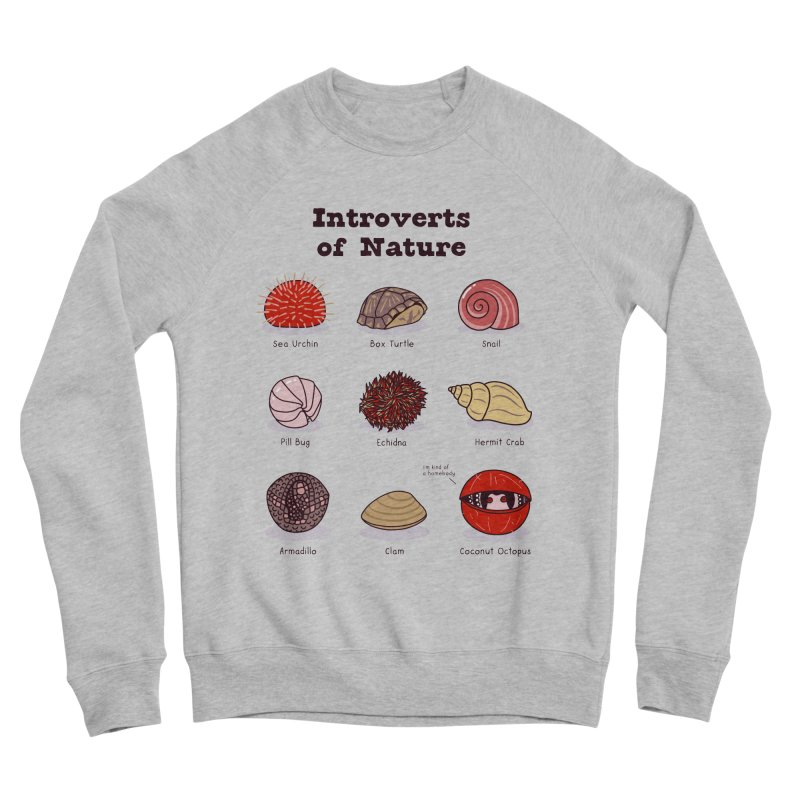 Introverts of Nature (Red/Gold) Men's Sweatshirt by Wild Hunt