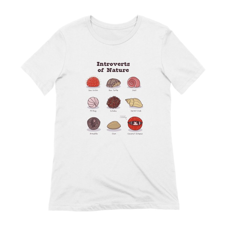 Introverts of Nature (Red/Gold) Women's T-Shirt by Wild Hunt
