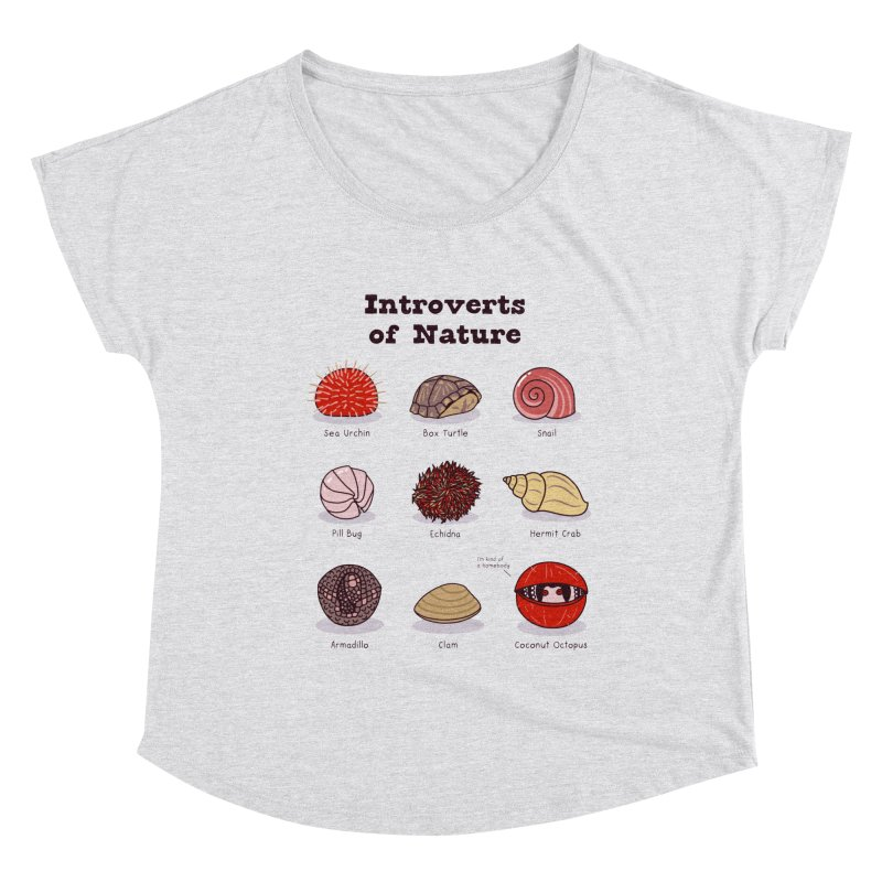 Introverts of Nature (Red/Gold) Women's Scoop Neck by Wild Hunt