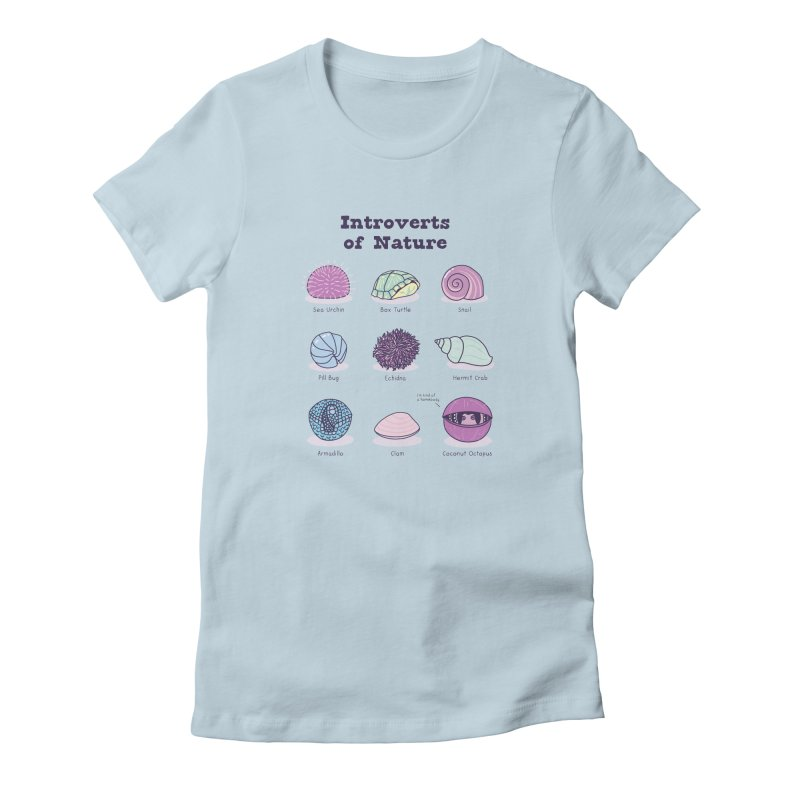 Introverts of Nature (Pastel) Women's T-Shirt by Wild Hunt