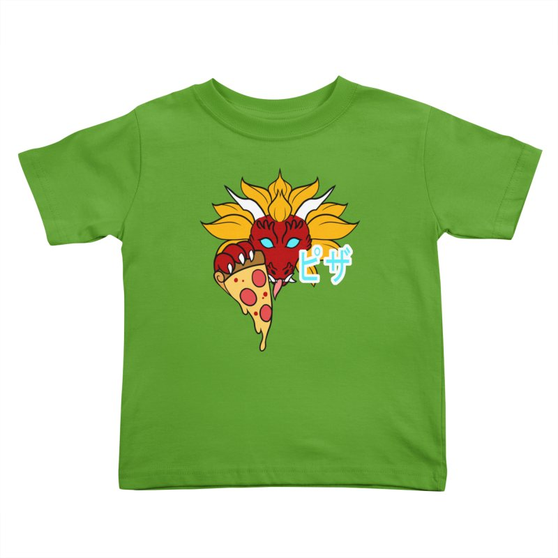 Pizza Monster Kids Toddler T-Shirt by Wild's Designs