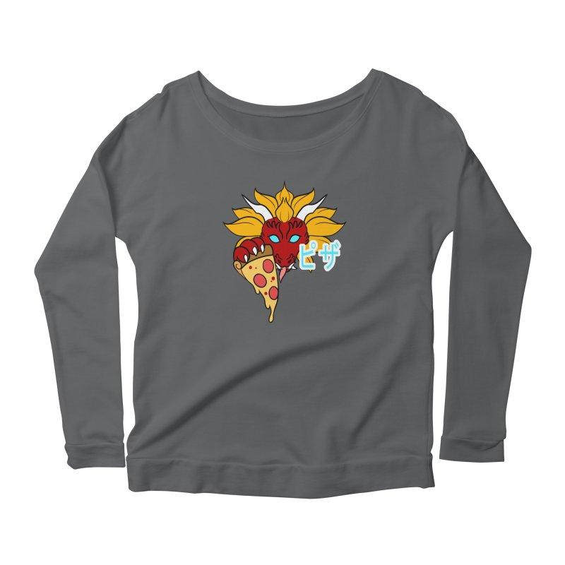 Pizza Monster Women's Longsleeve T-Shirt by Wild's Designs