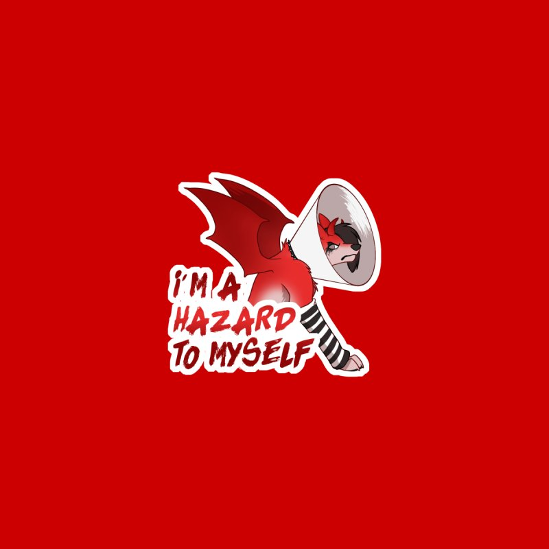 Hazardous Hellhound Men's T-Shirt by Wild's Designs