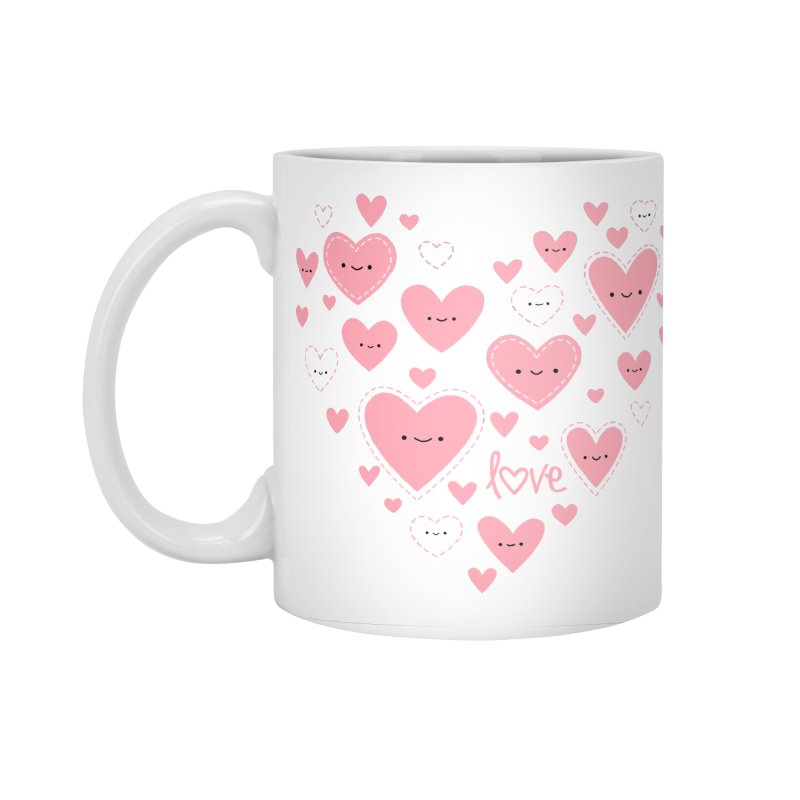 Helping Hearts Accessories Standard Mug by Wild Olive's Artist Shop
