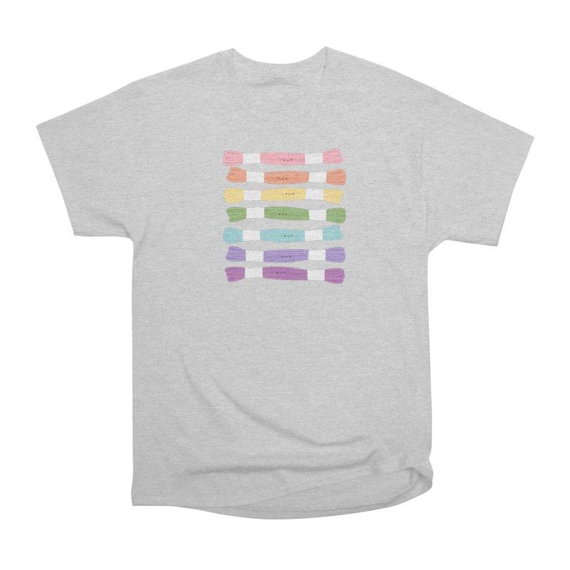 A Rainbow of Floss Women's Heavyweight Unisex T-Shirt by Wild Olive's Artist Shop