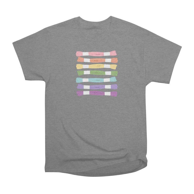 A Rainbow of Floss Men's Heavyweight T-Shirt by Wild Olive's Artist Shop