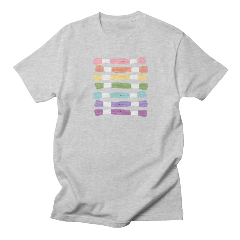 A Rainbow of Floss Men's Regular T-Shirt by Wild Olive's Artist Shop