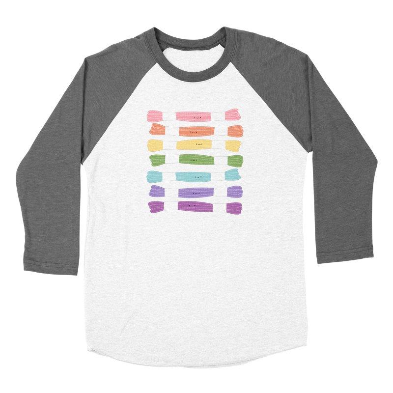 A Rainbow of Floss Women's Baseball Triblend Longsleeve T-Shirt by Wild Olive's Artist Shop