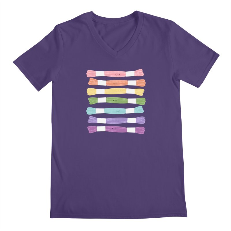 A Rainbow of Floss Men's V-Neck by wildolive's Artist Shop