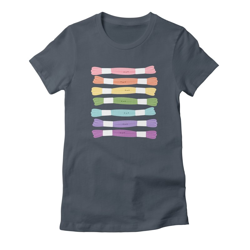 A Rainbow of Floss Women's Fitted T-Shirt by wildolive's Artist Shop
