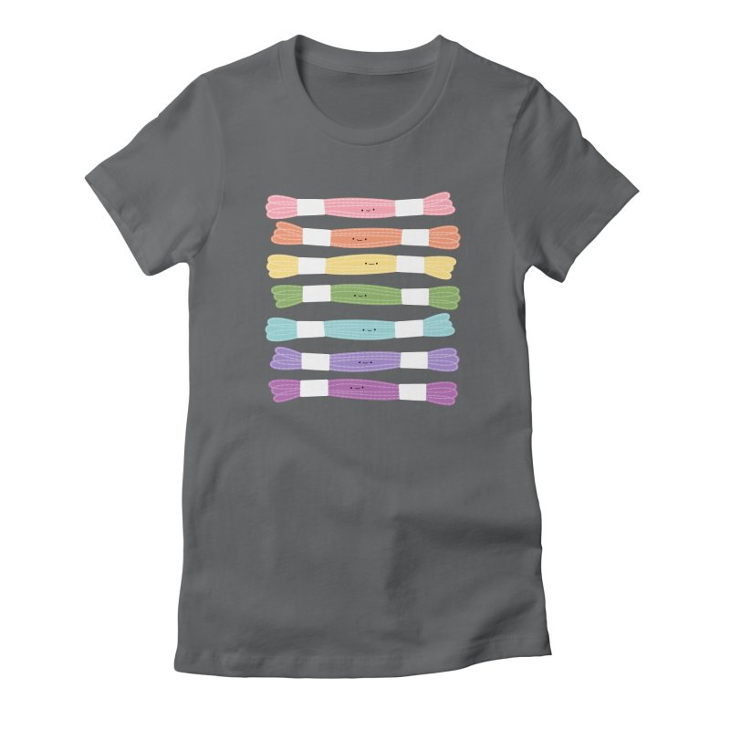 A Rainbow of Floss Women's Fitted T-Shirt by Wild Olive's Artist Shop