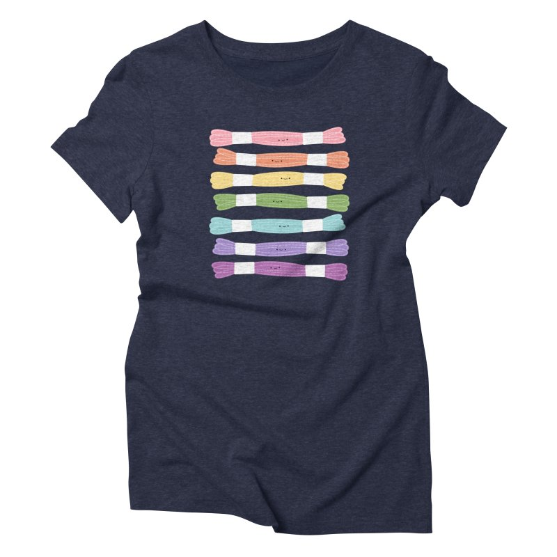 A Rainbow of Floss Women's T-Shirt by Wild Olive's Artist Shop