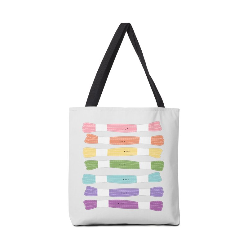 A Rainbow of Floss Accessories Bag by Wild Olive's Artist Shop