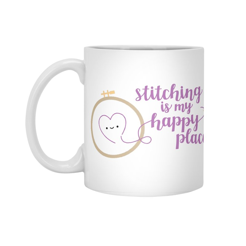 Stitching is My Happy Place Accessories Standard Mug by Wild Olive's Artist Shop