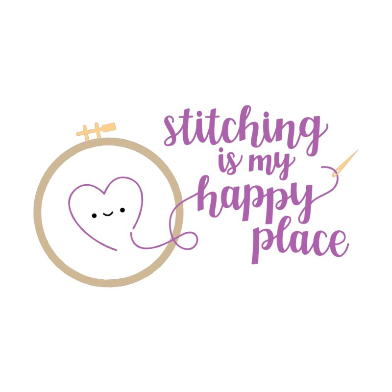 Stitching is My Happy Place Women's Longsleeve T-Shirt by wildolive's Artist Shop