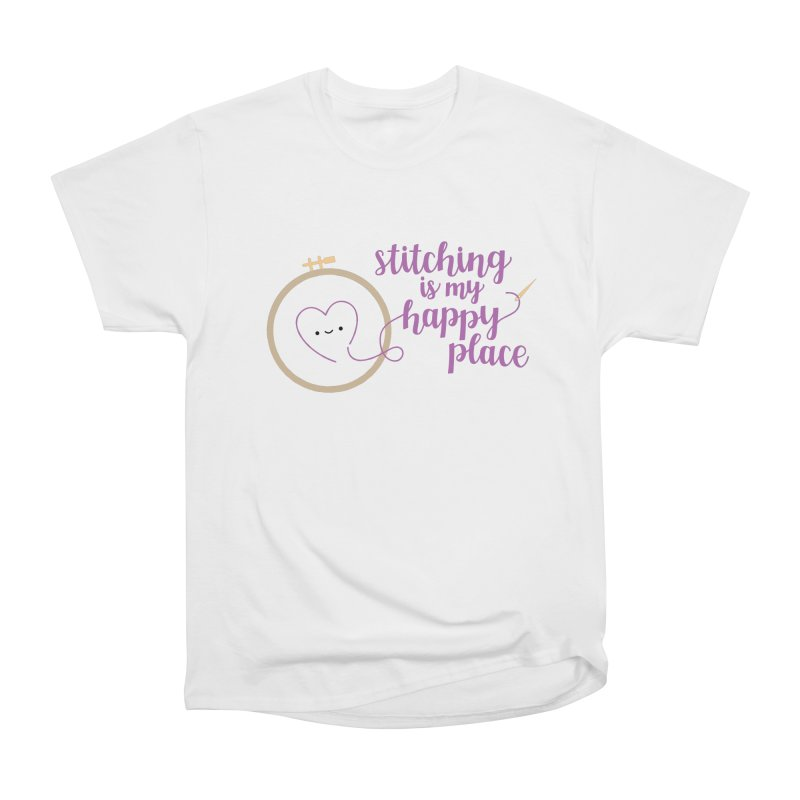 Stitching is My Happy Place Men's Classic T-Shirt by wildolive's Artist Shop