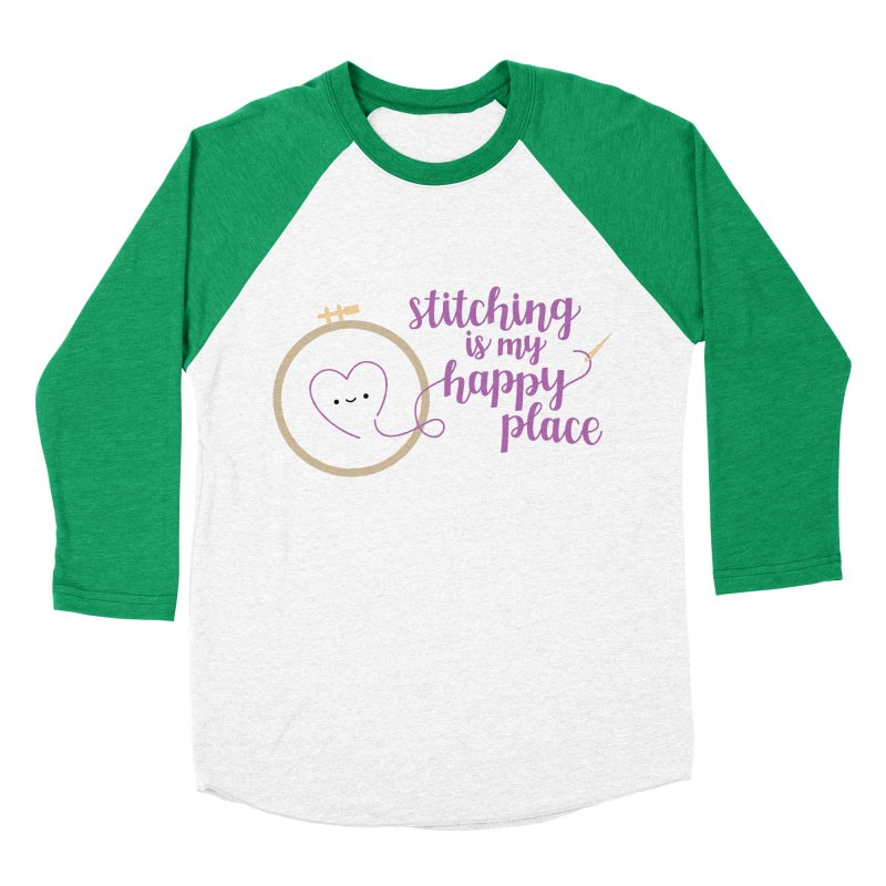 Stitching is My Happy Place Women's Baseball Triblend T-Shirt by wildolive's Artist Shop