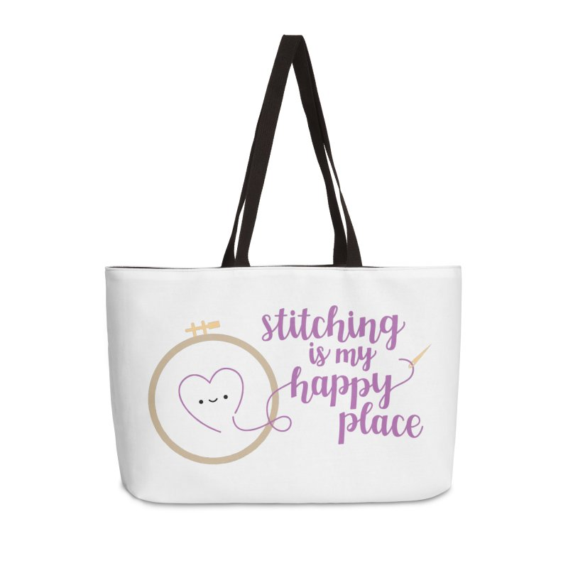 Stitching is My Happy Place Accessories Bag by wildolive's Artist Shop