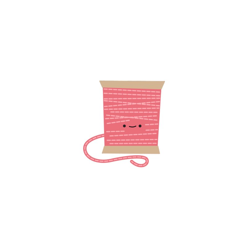 Sew Cute Pink Thread Spool by Wild Olive's Artist Shop