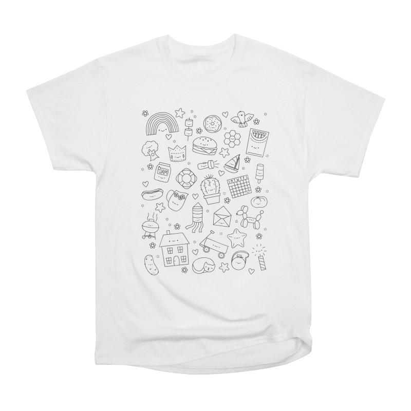 Hexagon Tinies Men's Heavyweight T-Shirt by Wild Olive's Artist Shop