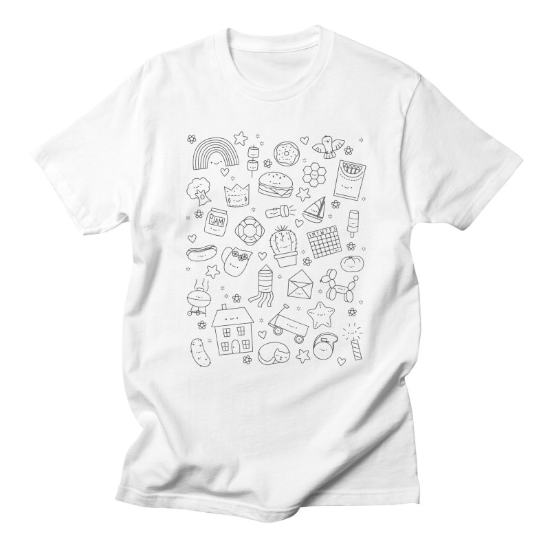 Hexagon Tinies Men's Regular T-Shirt by wildolive's Artist Shop
