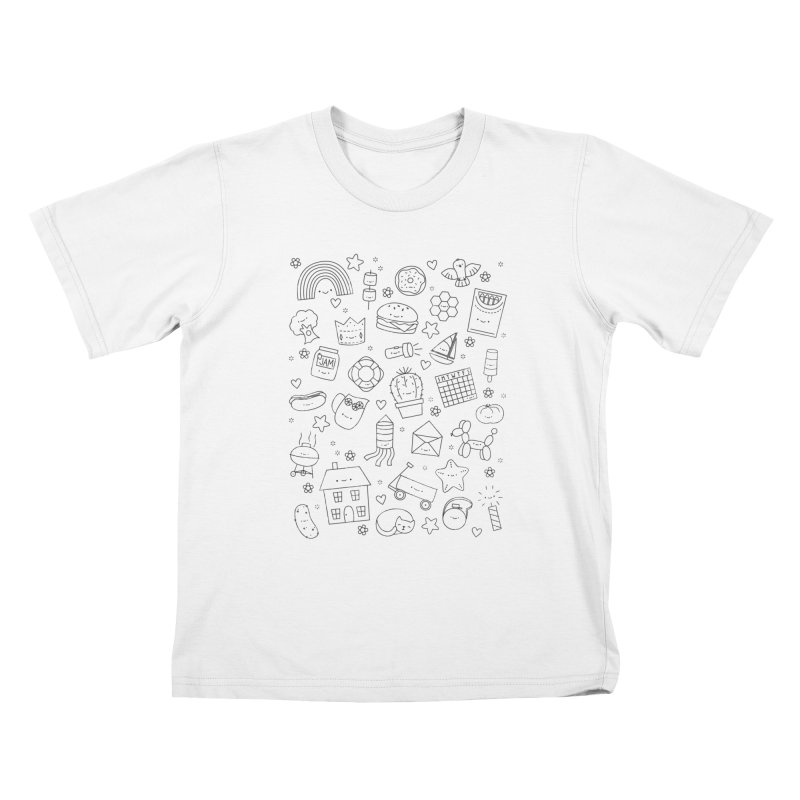 Hexagon Tinies Kids T-Shirt by Wild Olive's Artist Shop
