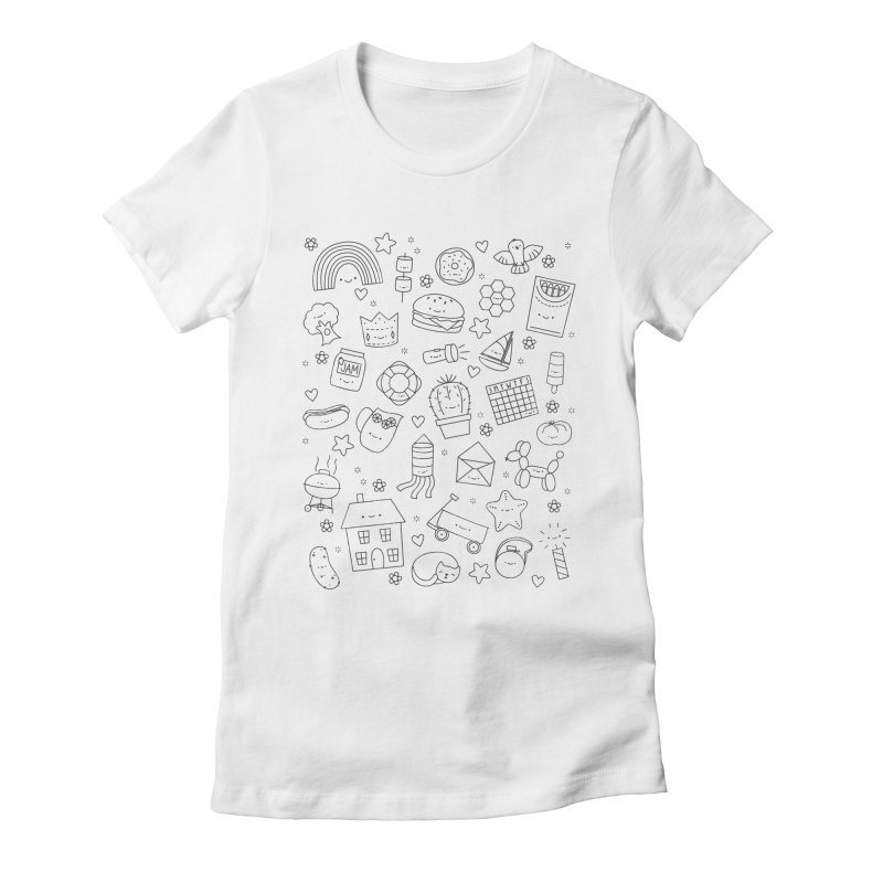 Hexagon Tinies Women's Fitted T-Shirt by Wild Olive's Artist Shop