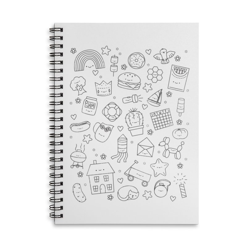 Hexagon Tinies Accessories Lined Spiral Notebook by Wild Olive's Artist Shop