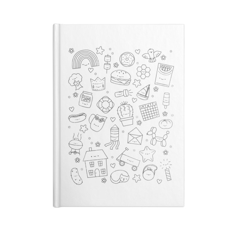 Hexagon Tinies Accessories Lined Journal Notebook by Wild Olive's Artist Shop