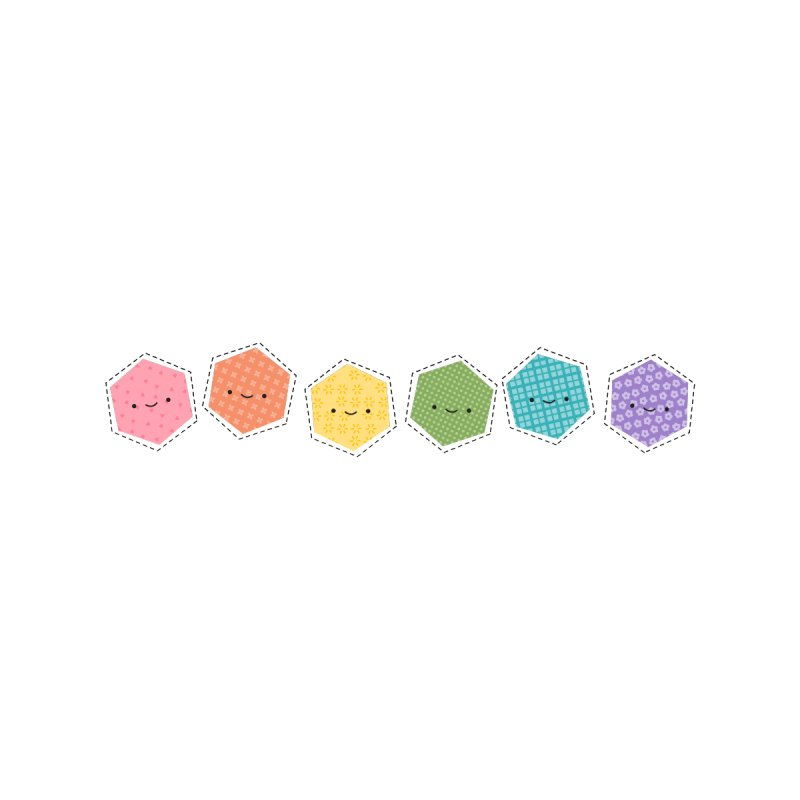 A Rainbow of Hexagons by wildolive's Artist Shop