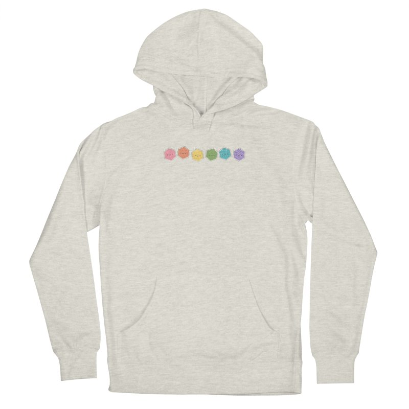 A Rainbow of Hexagons Men's French Terry Pullover Hoody by Wild Olive's Artist Shop
