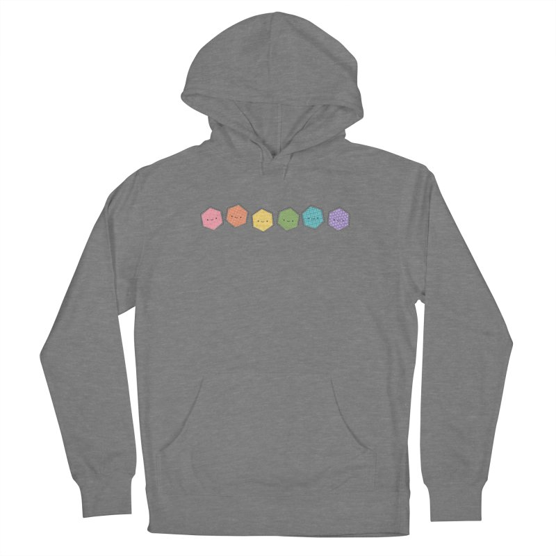 A Rainbow of Hexagons Women's French Terry Pullover Hoody by Wild Olive's Artist Shop