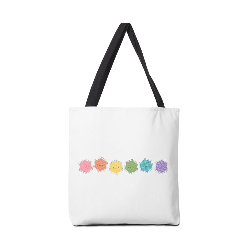 A Rainbow of Hexagons Accessories Bag by wildolive's Artist Shop
