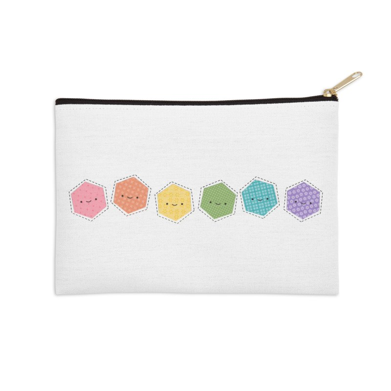 A Rainbow of Hexagons Accessories Zip Pouch by wildolive's Artist Shop