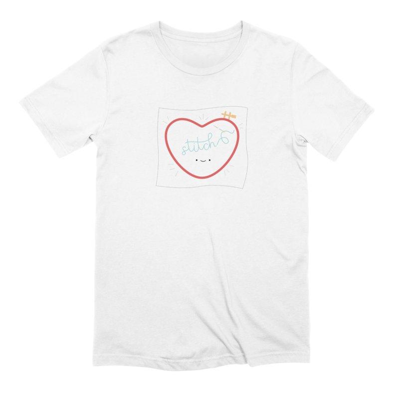 Stitch Love Men's Extra Soft T-Shirt by Wild Olive's Artist Shop