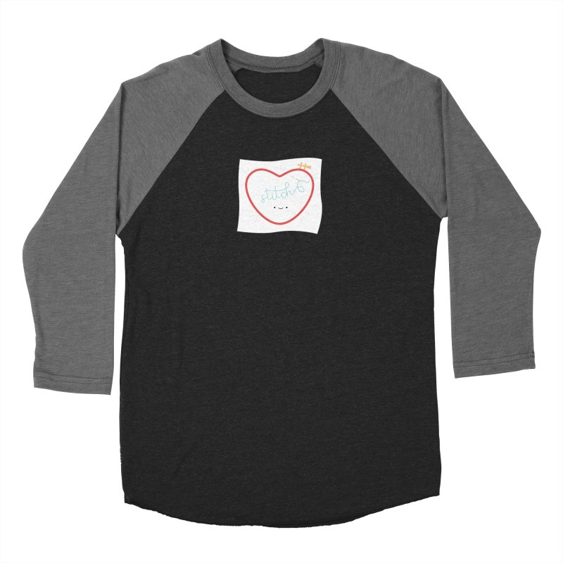 Stitch Love Men's Baseball Triblend Longsleeve T-Shirt by Wild Olive's Artist Shop