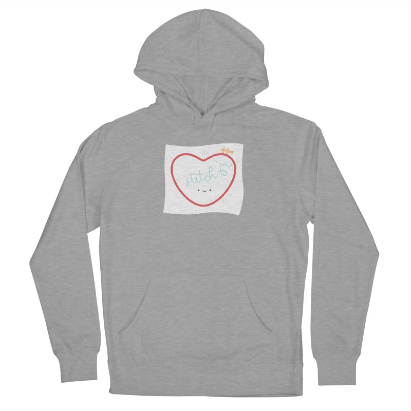 Stitch Love Women's French Terry Pullover Hoody by wildolive's Artist Shop