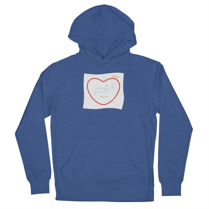 Stitch Love Men's French Terry Pullover Hoody by Wild Olive's Artist Shop