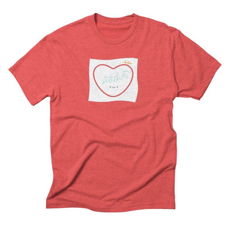 Stitch Love Men's Triblend T-Shirt by wildolive's Artist Shop