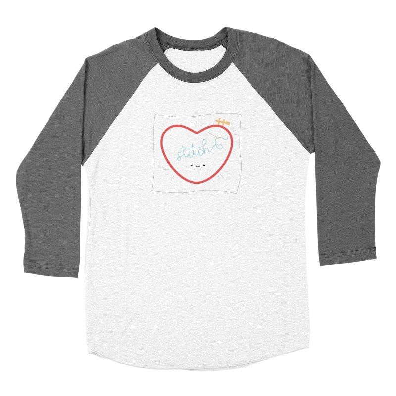 Stitch Love Women's Baseball Triblend Longsleeve T-Shirt by wildolive's Artist Shop