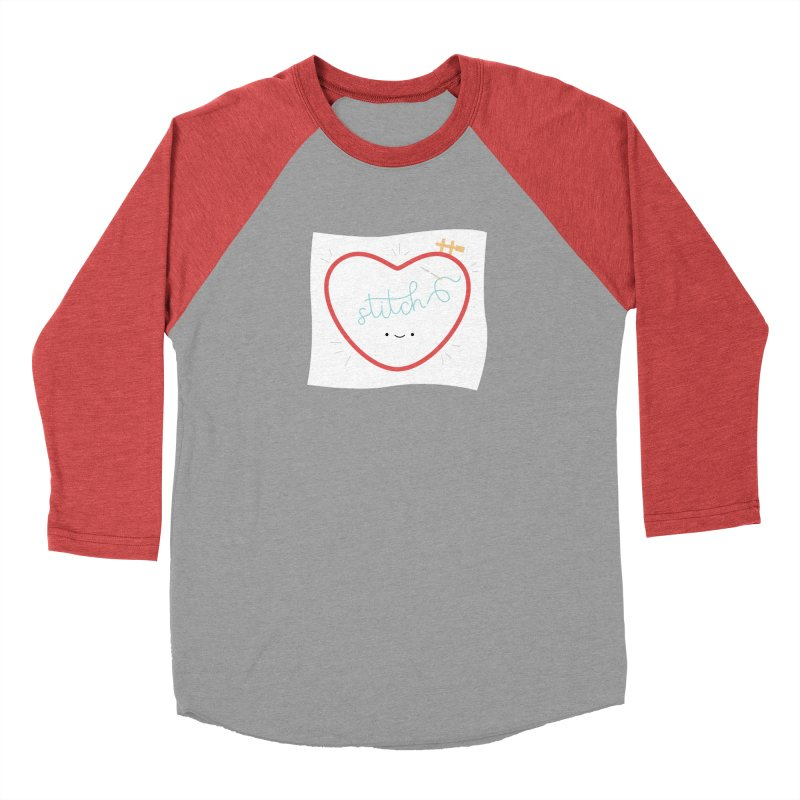 Stitch Love Women's Baseball Triblend T-Shirt by wildolive's Artist Shop