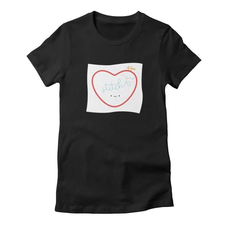 Stitch Love Women's Fitted T-Shirt by wildolive's Artist Shop