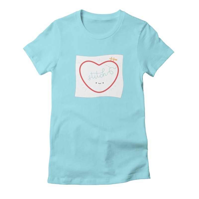 Stitch Love Women's Fitted T-Shirt by Wild Olive's Artist Shop
