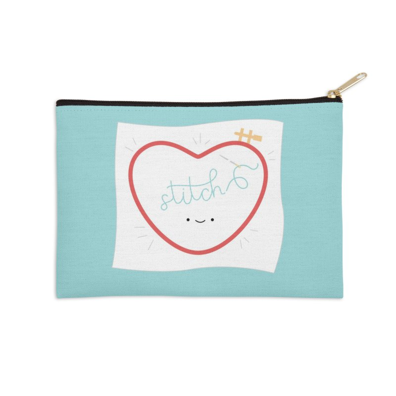 Stitch Love Accessories Zip Pouch by wildolive's Artist Shop