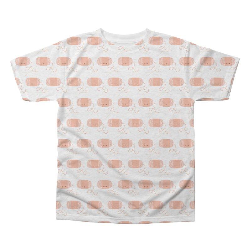 Orange Yarn All Over Men's Triblend All Over Print by Wild Olive's Artist Shop