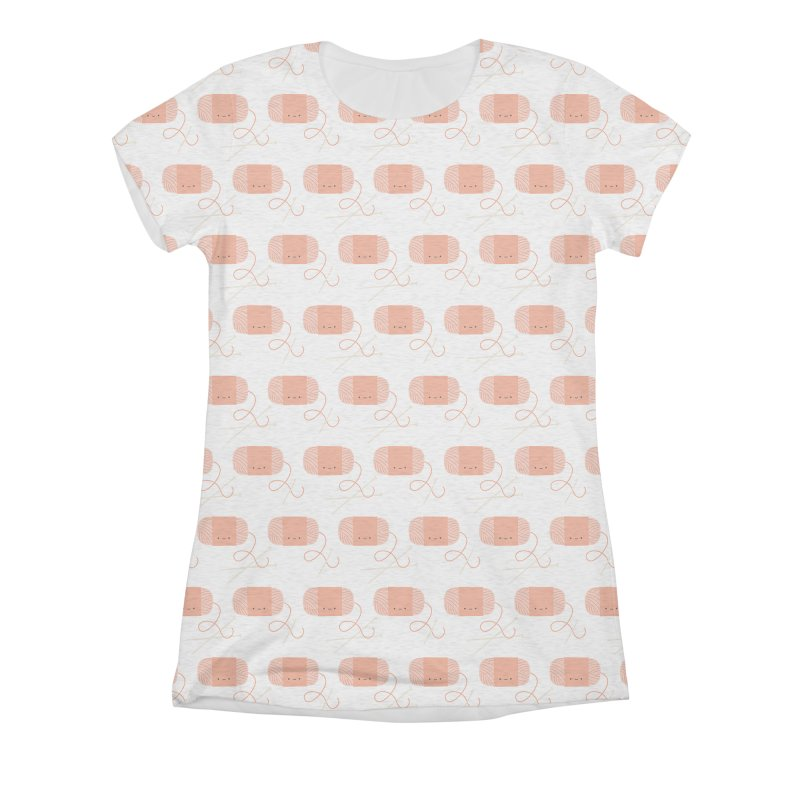 Orange Yarn All Over Women's Triblend All Over Print by Wild Olive's Artist Shop