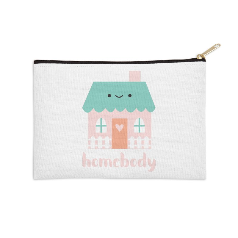 Happy Home - Homebody Accessories Zip Pouch by wildolive's Artist Shop