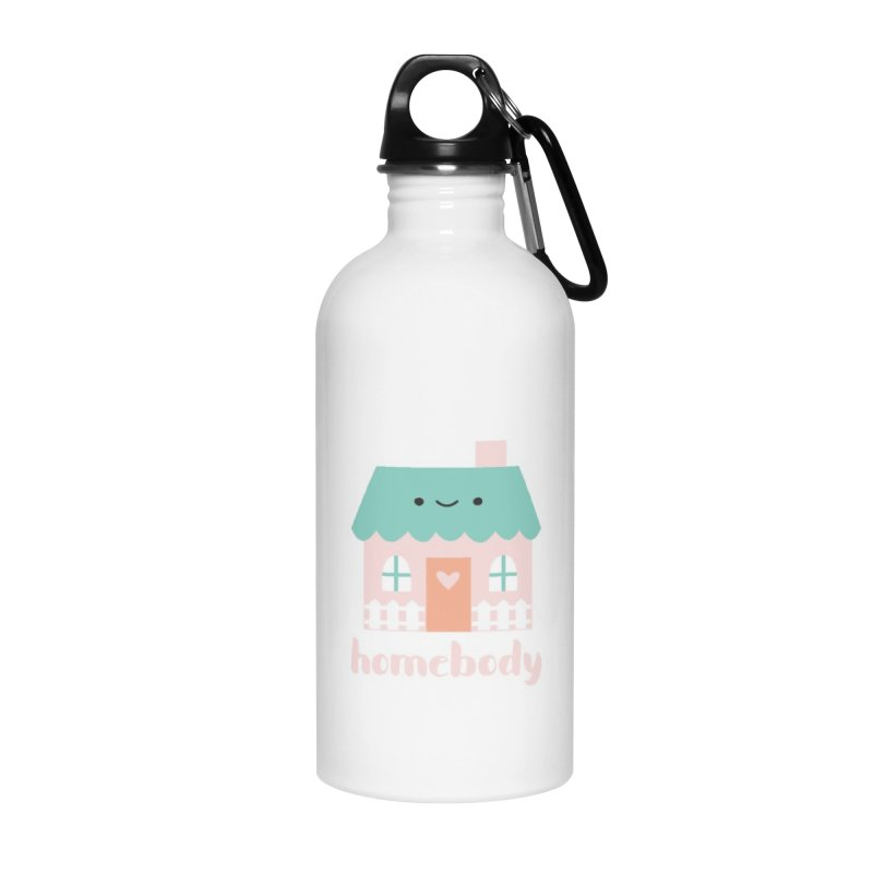 Happy Home - Homebody Accessories Water Bottle by Wild Olive's Artist Shop