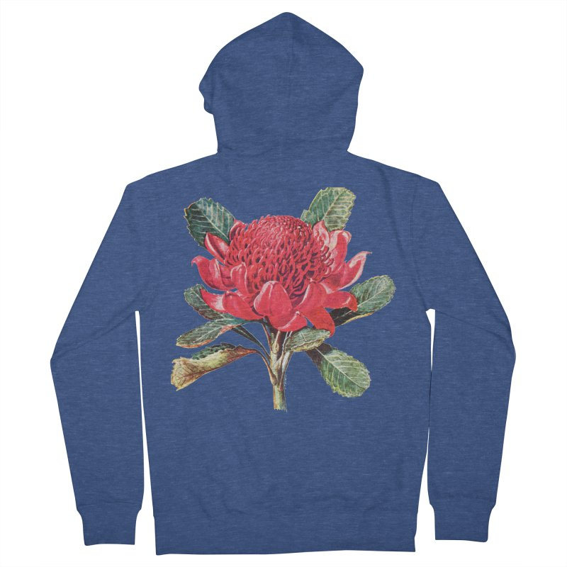 Going Red Men's Zip-Up Hoody by Wild Roots Artist Shop