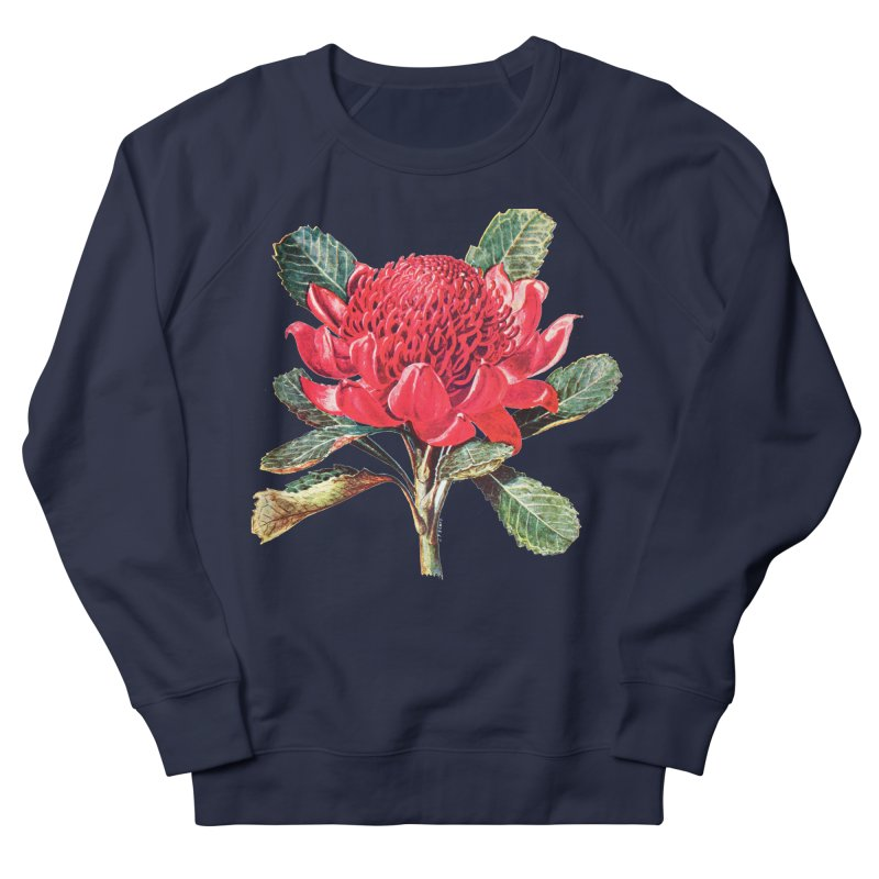 Going Red Women's French Terry Sweatshirt by Wild Roots Artist Shop